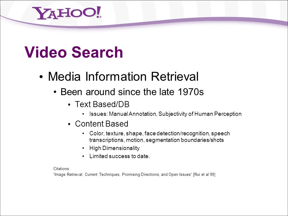 Video Search Media Information Retrieval