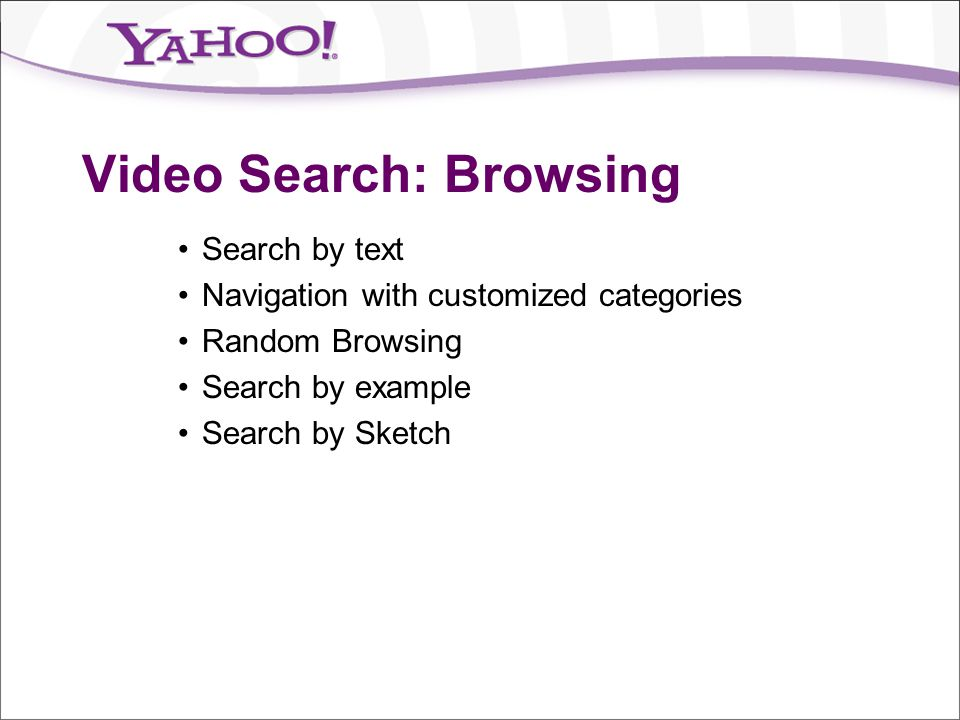 Video Search: Browsing