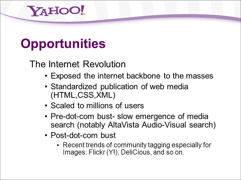 Opportunities The Internet Revolution