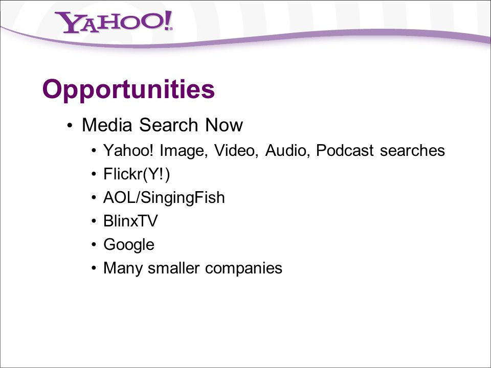 Opportunities Media Search Now
