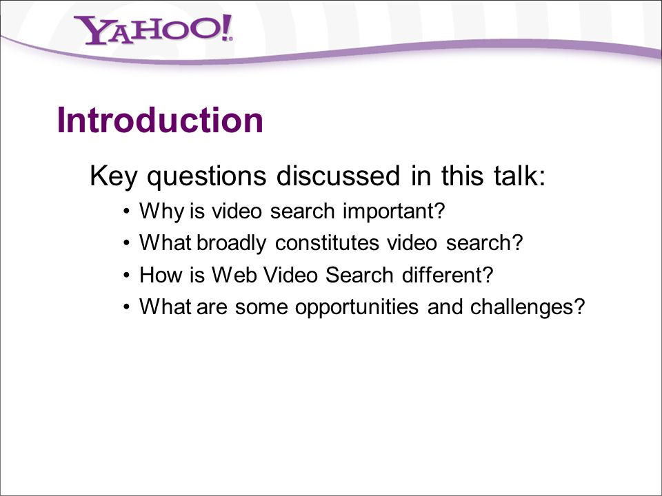 Introduction Key questions discussed in this talk: