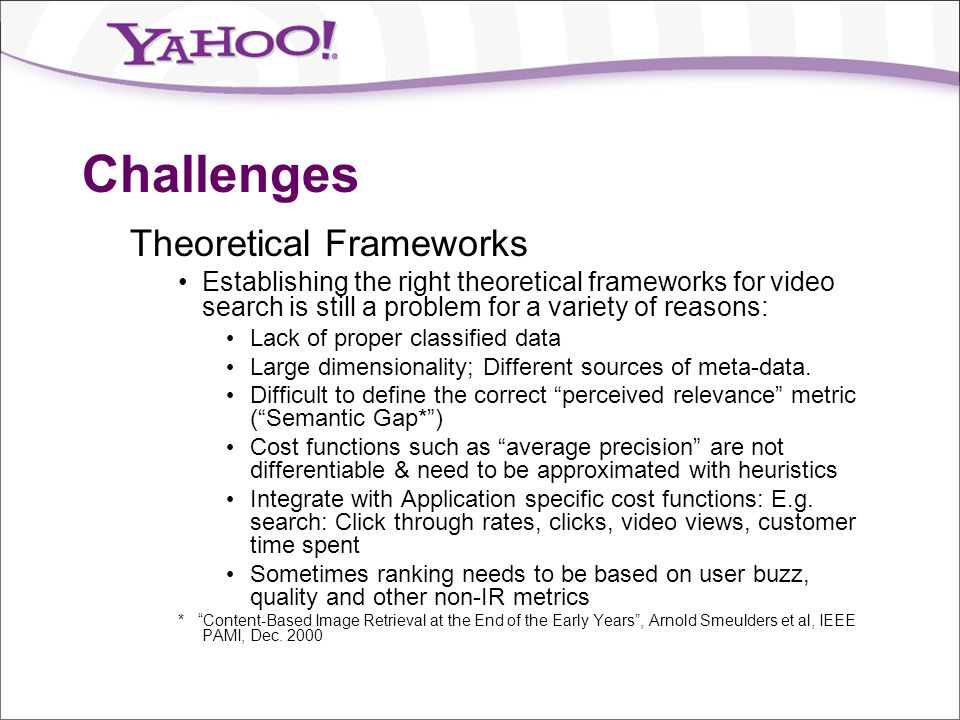 Challenges Theoretical Frameworks