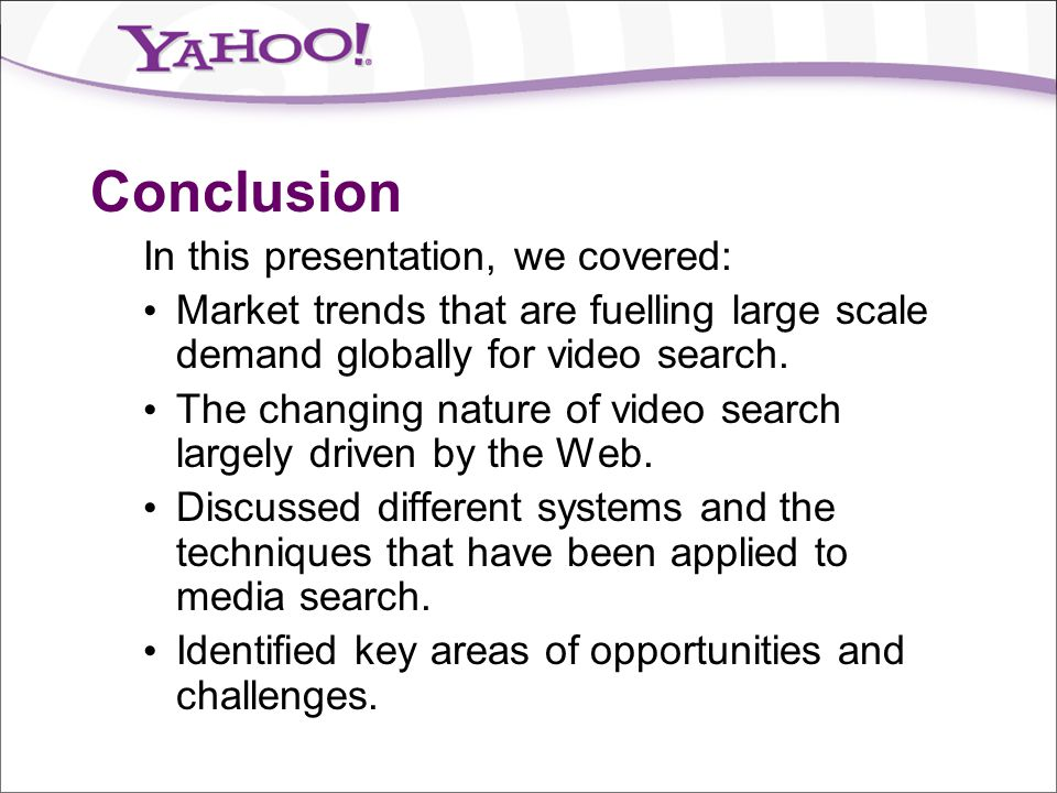 Conclusion In this presentation, we covered: