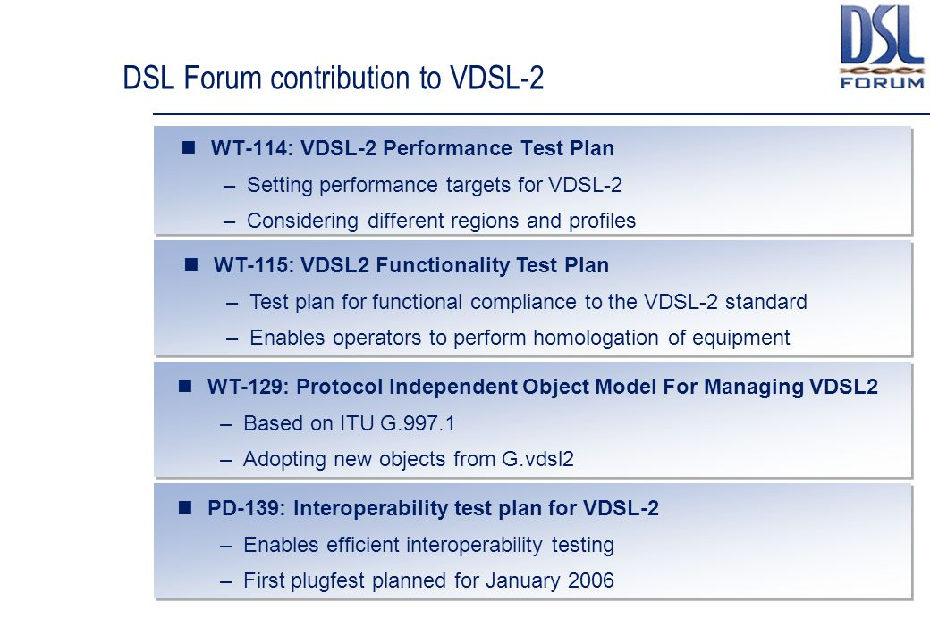 DSL Forum contribution to VDSL-2