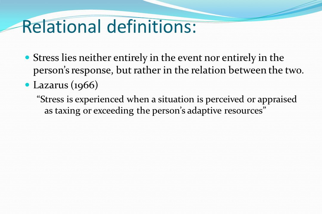 Relational definitions: