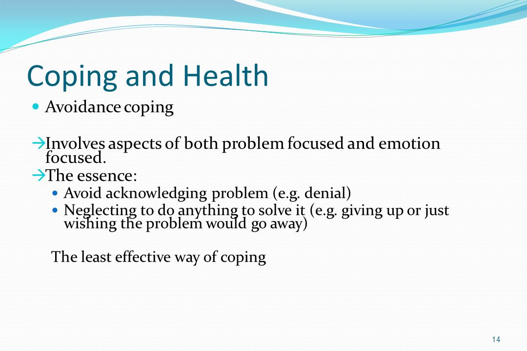 Coping and Health Avoidance coping