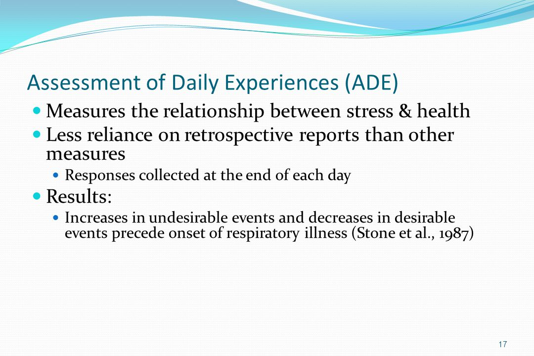 Assessment of Daily Experiences (ADE)