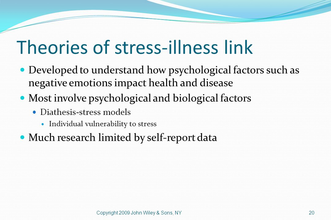 Theories of stress-illness link