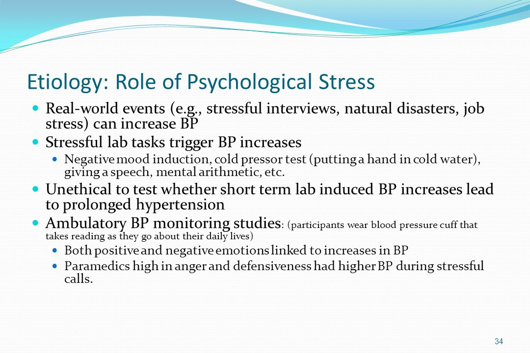 Etiology: Role of Psychological Stress