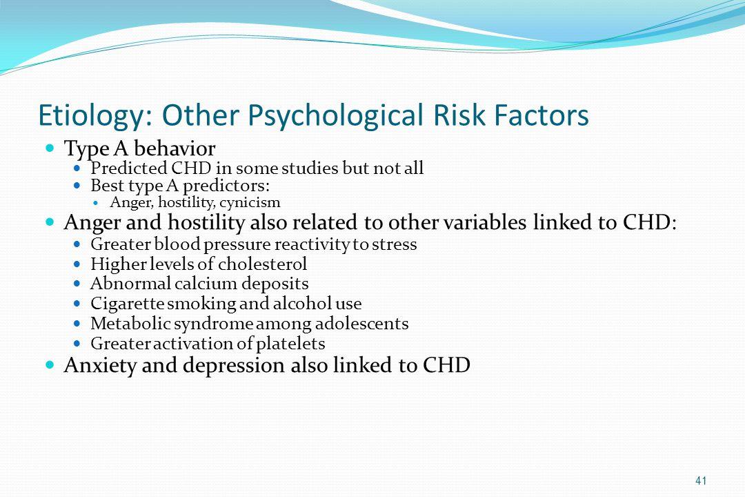 Etiology: Other Psychological Risk Factors