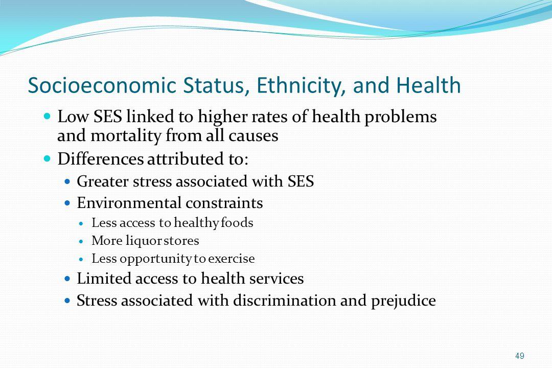 Socioeconomic Status, Ethnicity, and Health