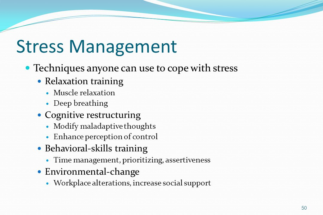 Stress Management Techniques anyone can use to cope with stress