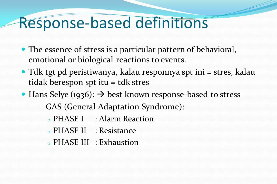Response-based definitions