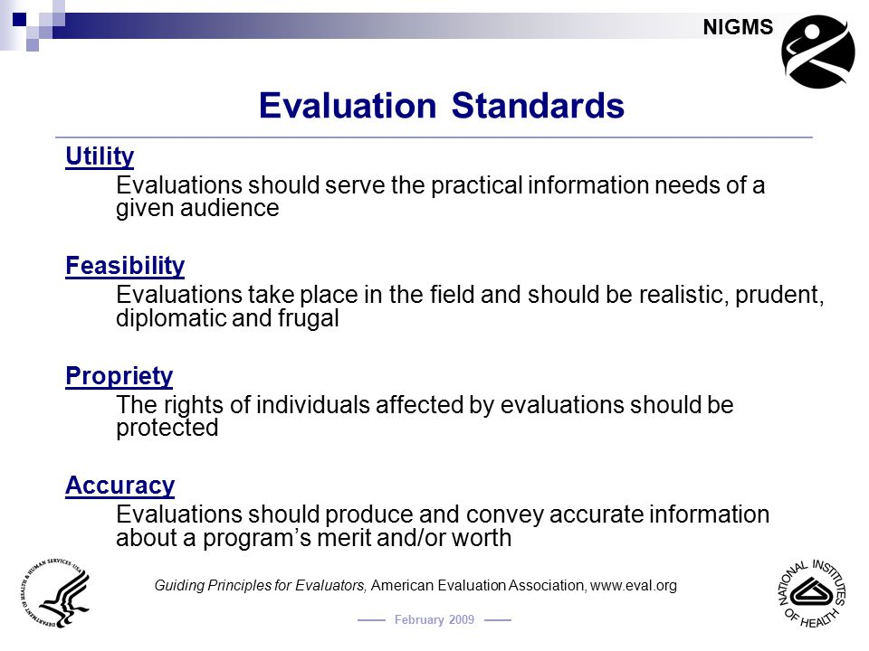 Evaluation Standards Utility