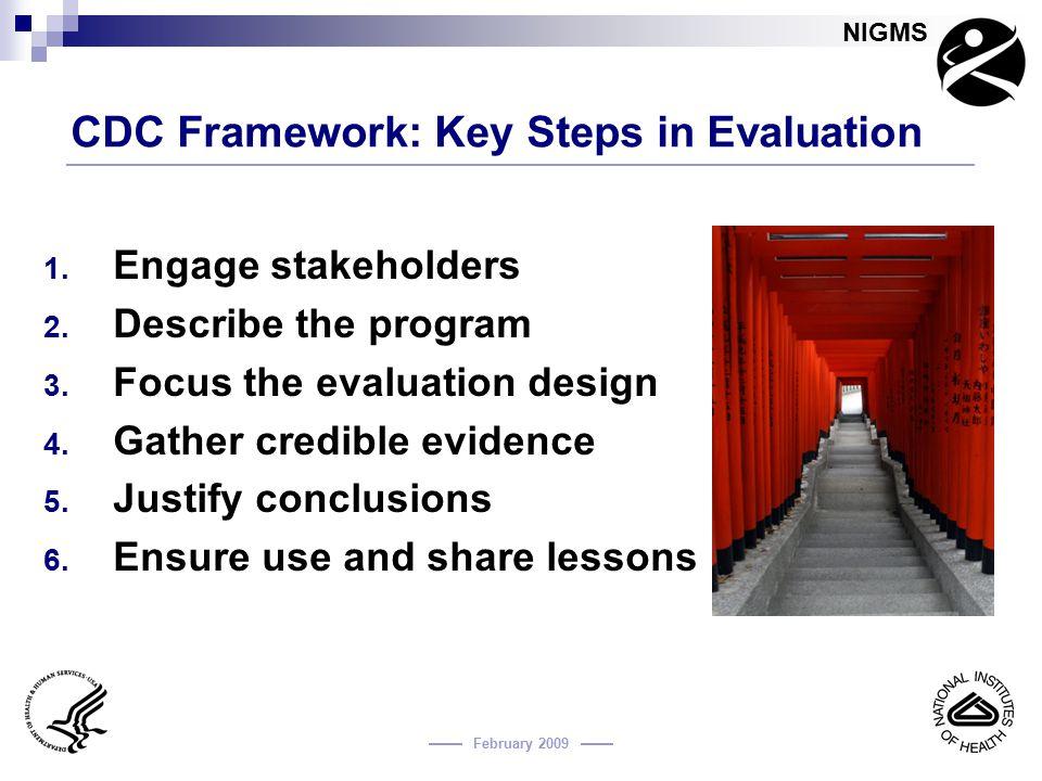 CDC Framework: Key Steps in Evaluation