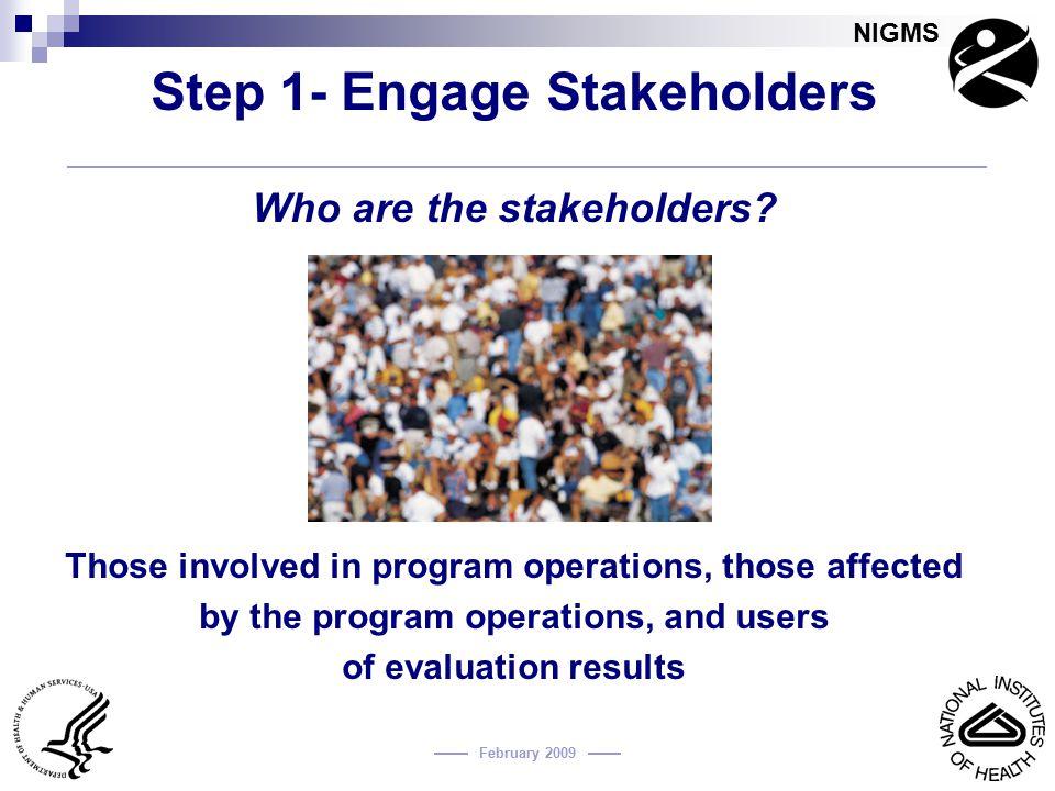 Step 1- Engage Stakeholders
