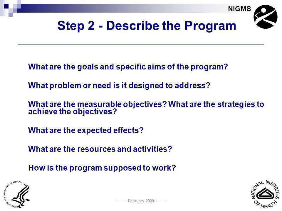 Step 2 - Describe the Program
