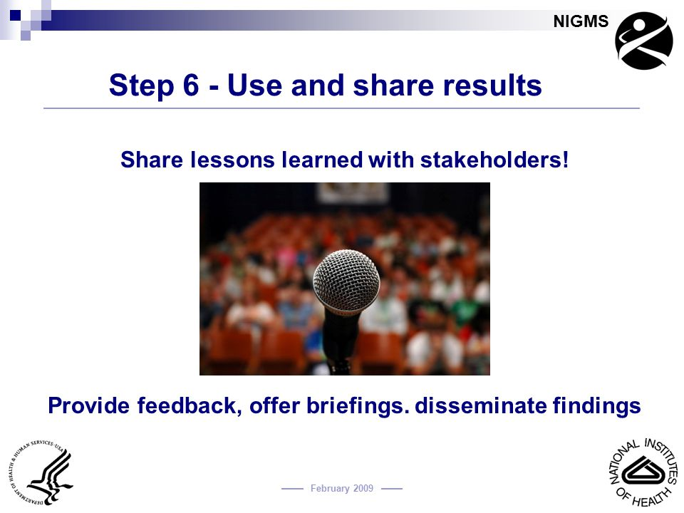 Step 6 - Use and share results