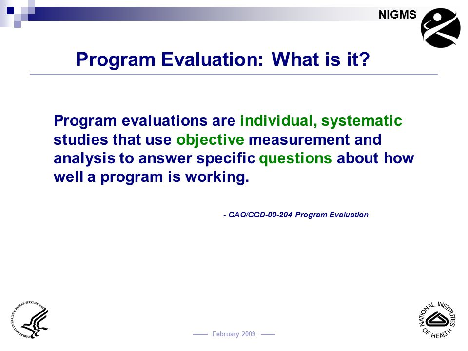 Program Evaluation: What is it