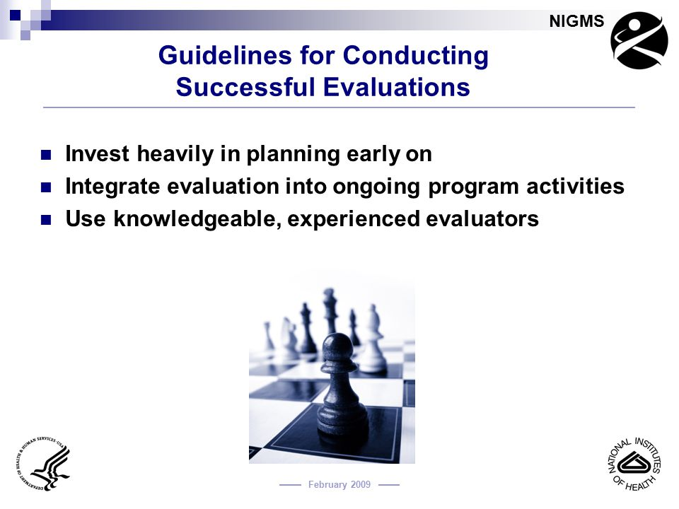 Guidelines for Conducting Successful Evaluations