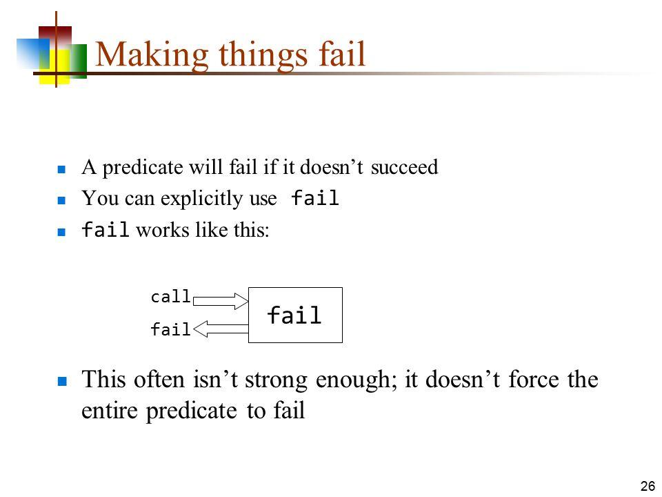 Making things fail fail