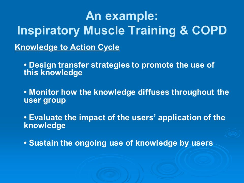 An example: Inspiratory Muscle Training & COPD