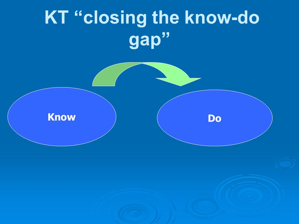KT closing the know-do gap
