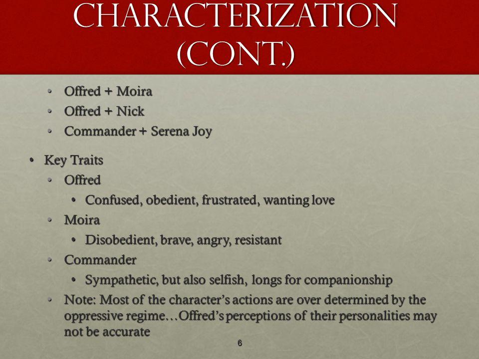 Characterization (cont.)