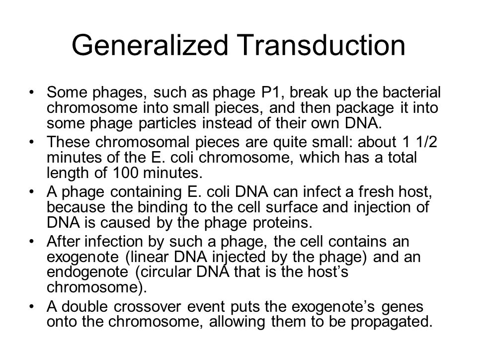 Generalized Transduction