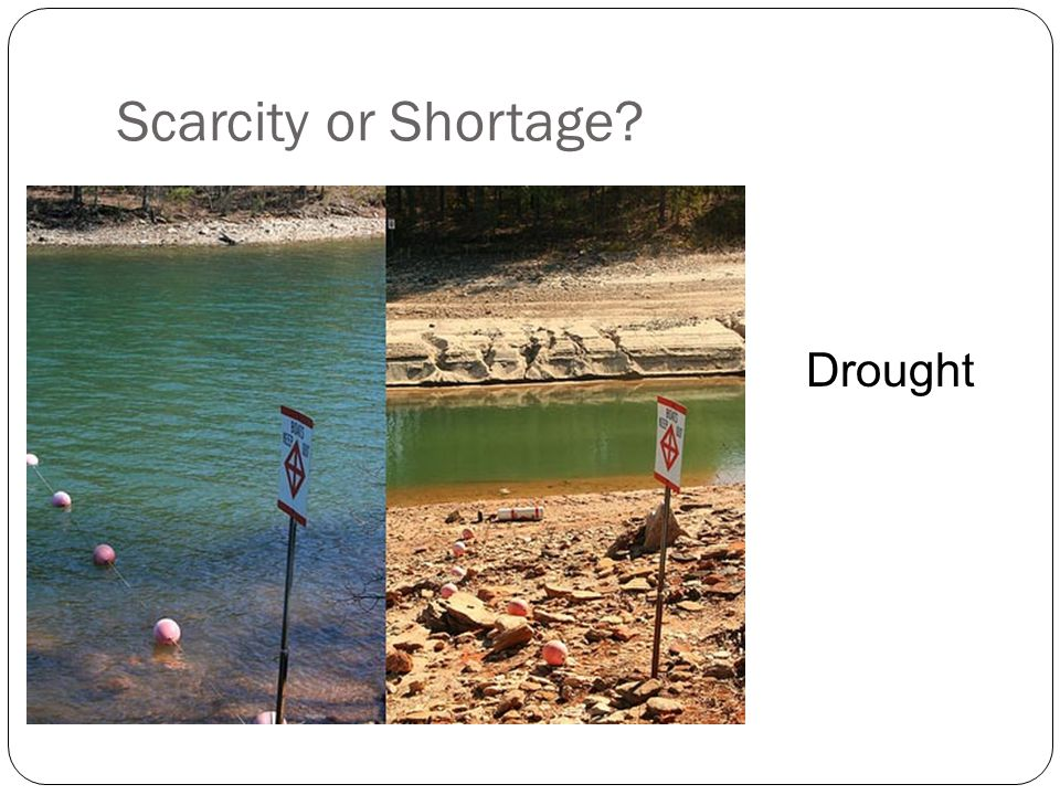 Scarcity or Shortage Drought