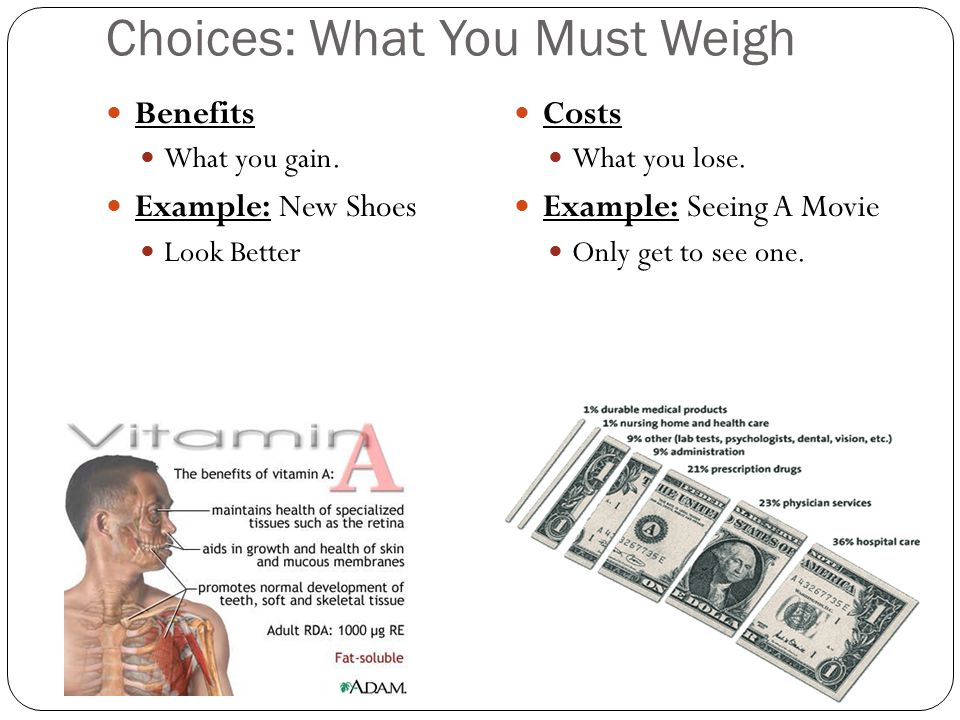 Choices: What You Must Weigh