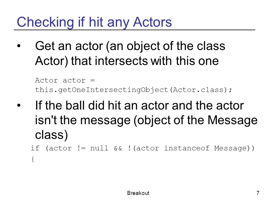 Checking if hit any Actors