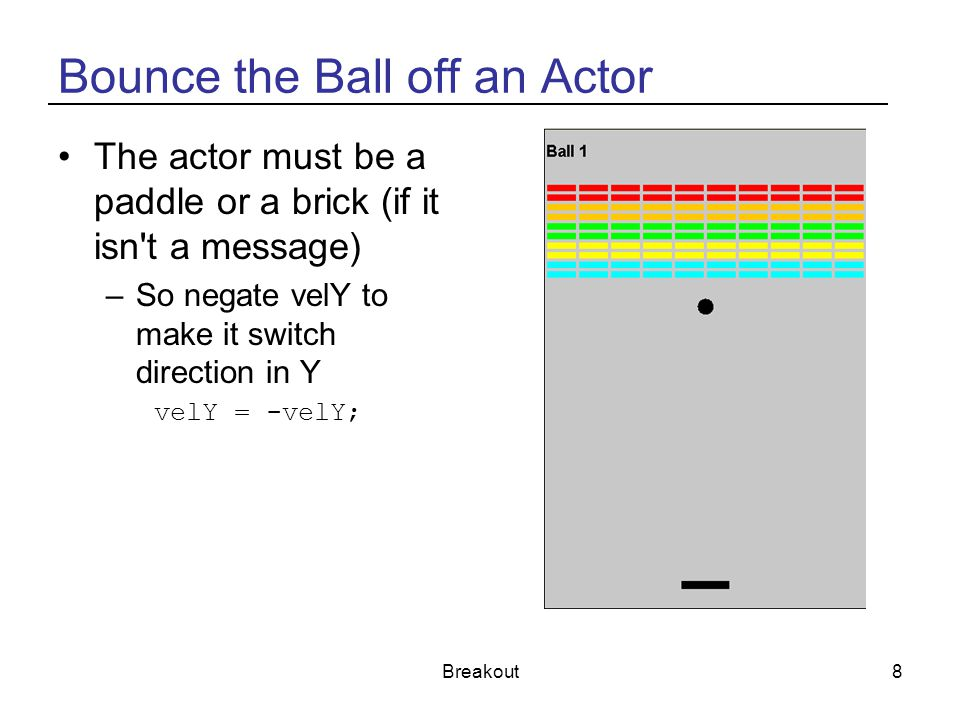 Bounce the Ball off an Actor
