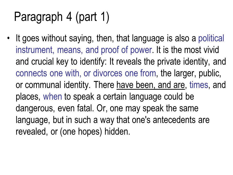 Paragraph 4 (part 1)