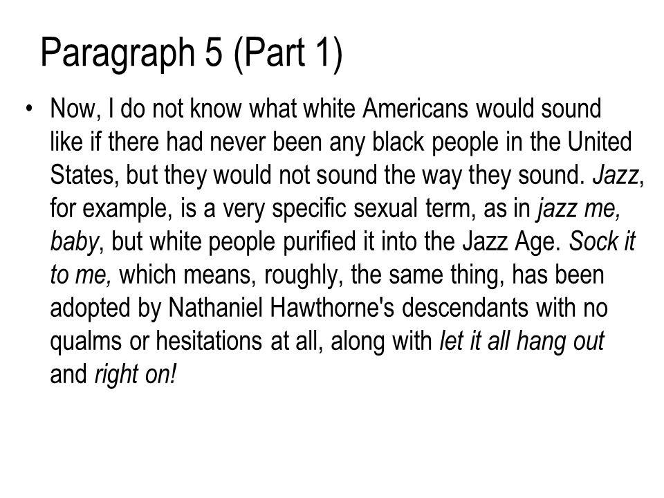 Paragraph 5 (Part 1)