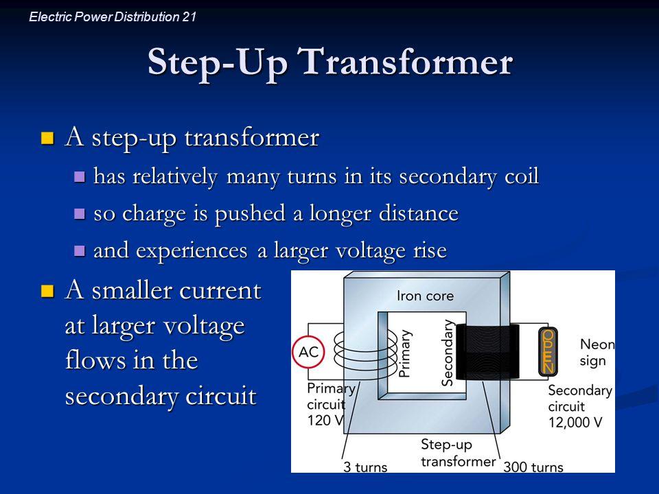 Step-Up Transformer A step-up transformer