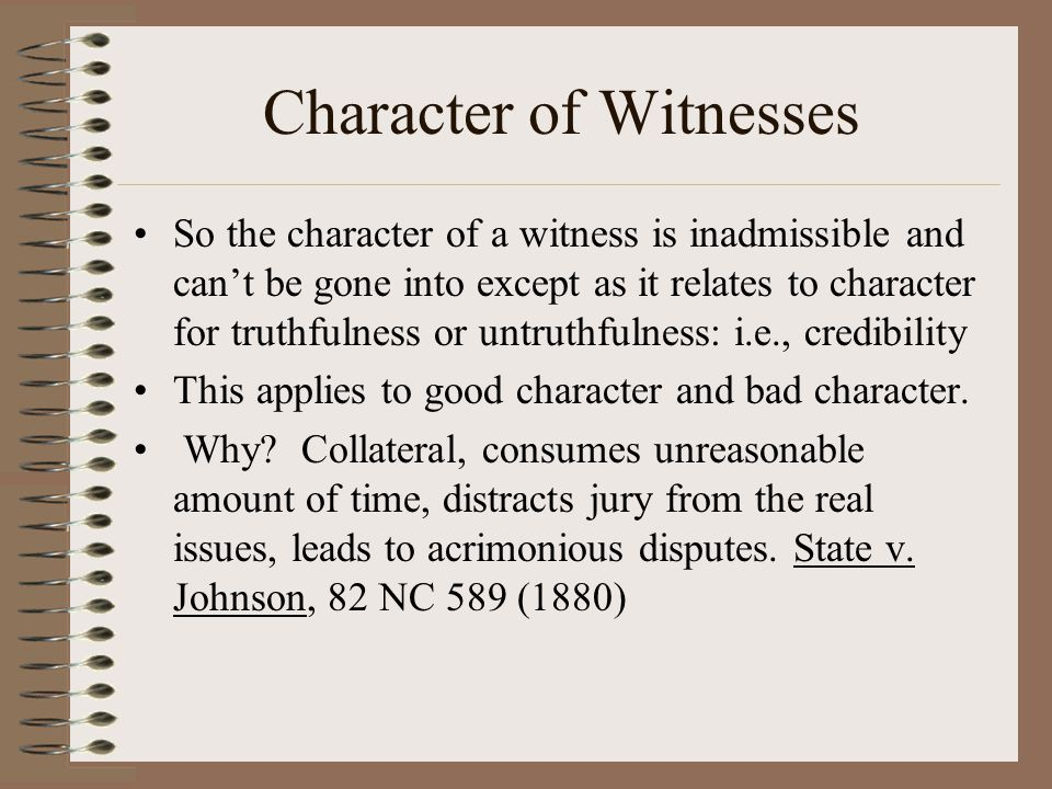 Character of Witnesses