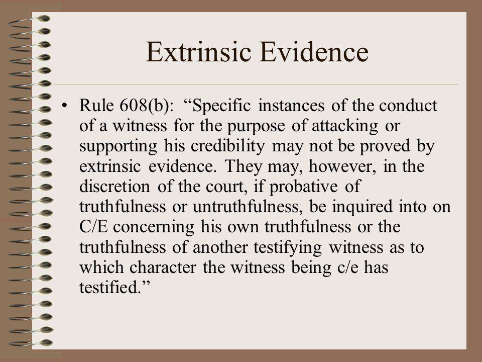 Extrinsic Evidence