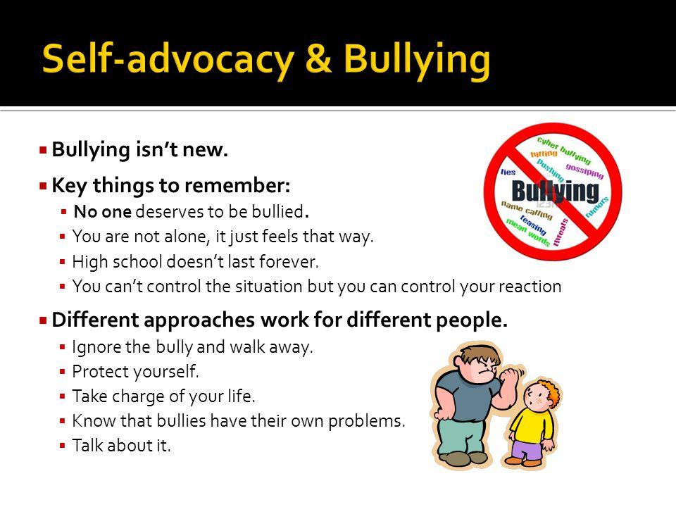 Self-advocacy & Bullying