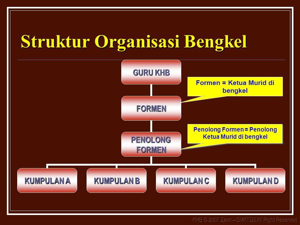Struktur Organisasi Bengkel