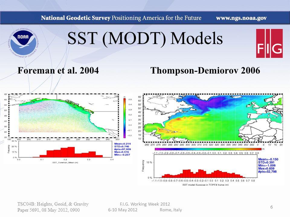 SST (MODT) Models Foreman et al. 2004 Thompson-Demiorov 2006