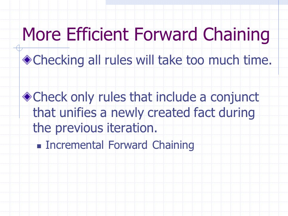 More Efficient Forward Chaining