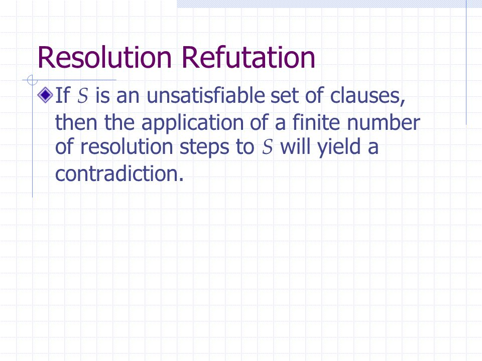 Resolution Refutation