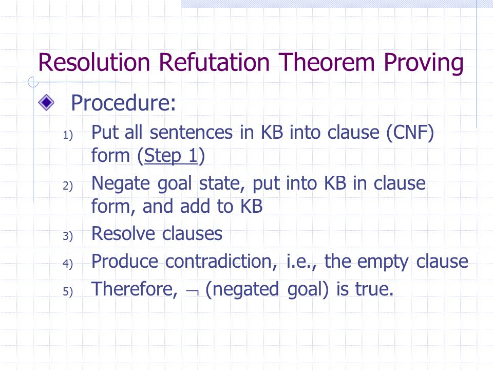Resolution Refutation Theorem Proving