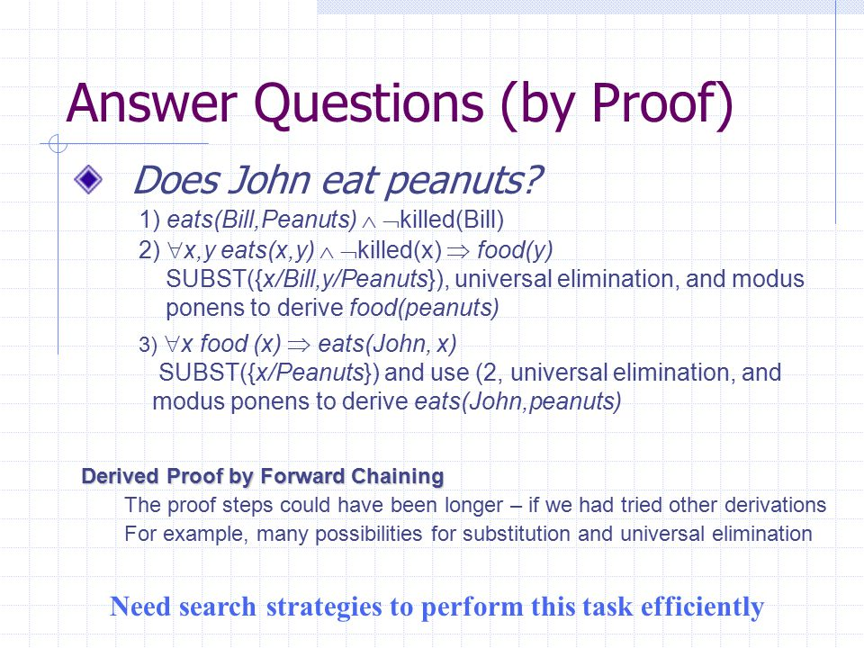 Answer Questions (by Proof)