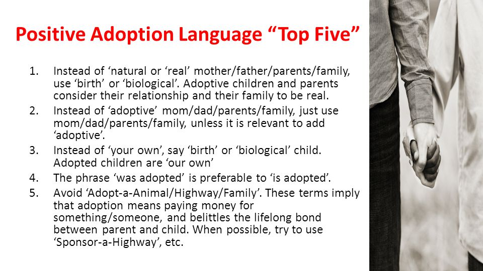 Positive Adoption Language Top Five