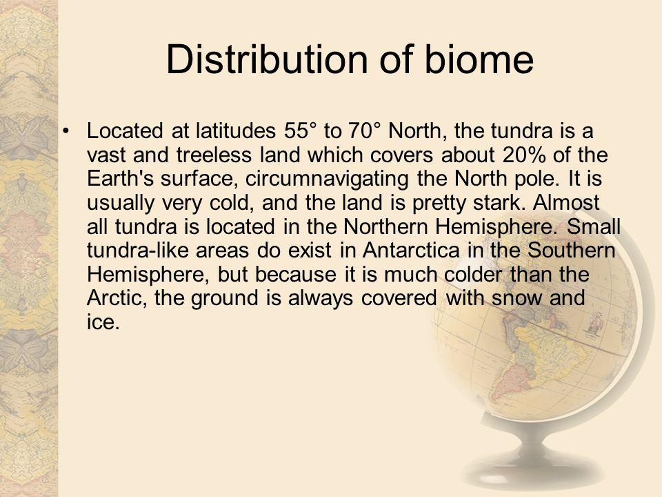 Distribution of biome