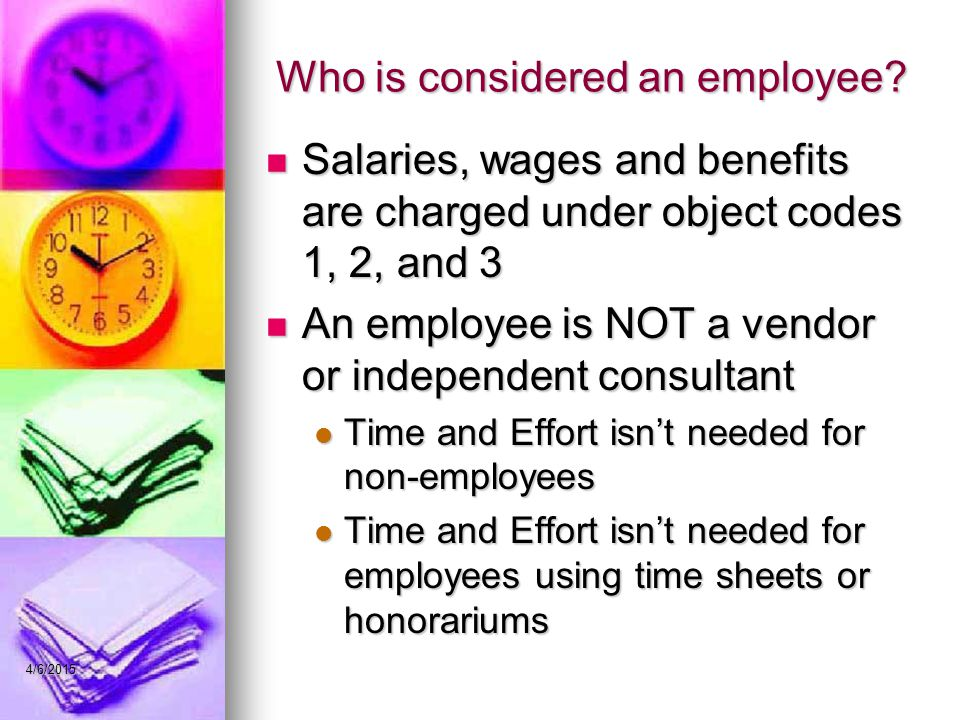 Who is considered an employee