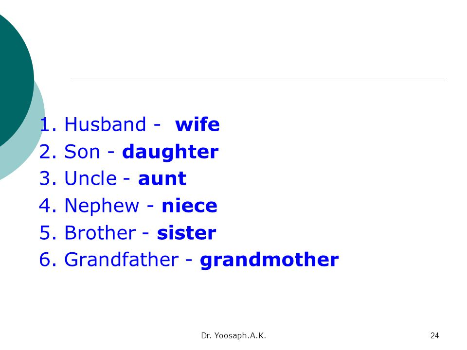 6. Grandfather - grandmother