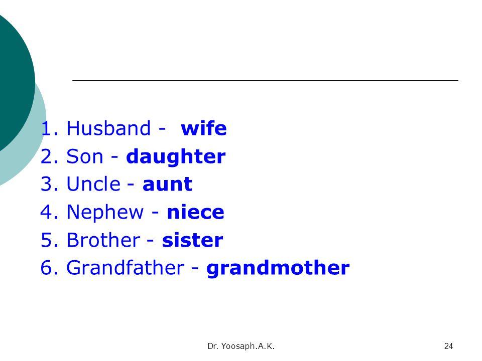 6. Grandfather - grandmother